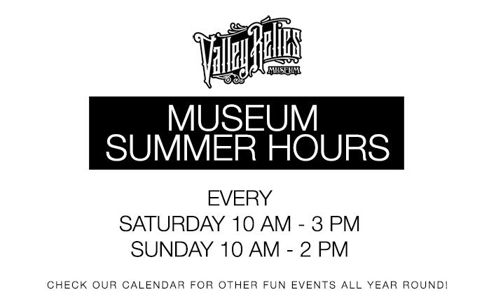 MUSEUM SUMMER HOURS POP-UP