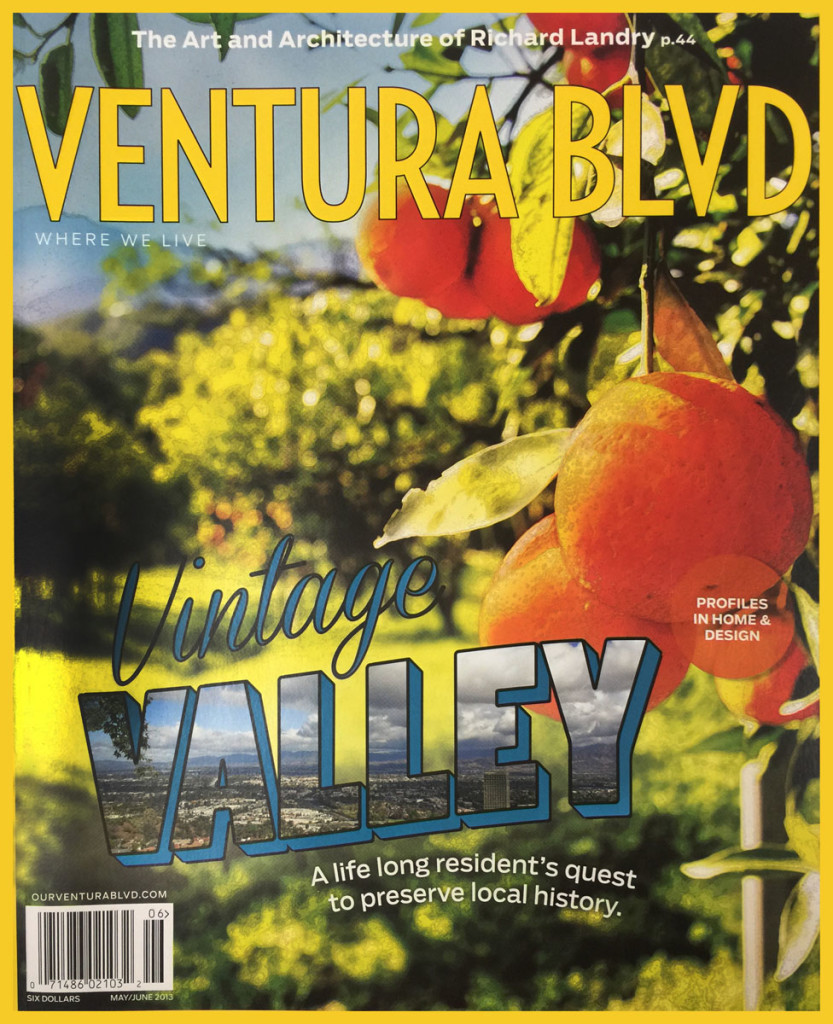 VALLEY RELICS MAKES THE FRONT PAGE OF VENTURA BLVD MAGAZINE MAY - JUNE 2013