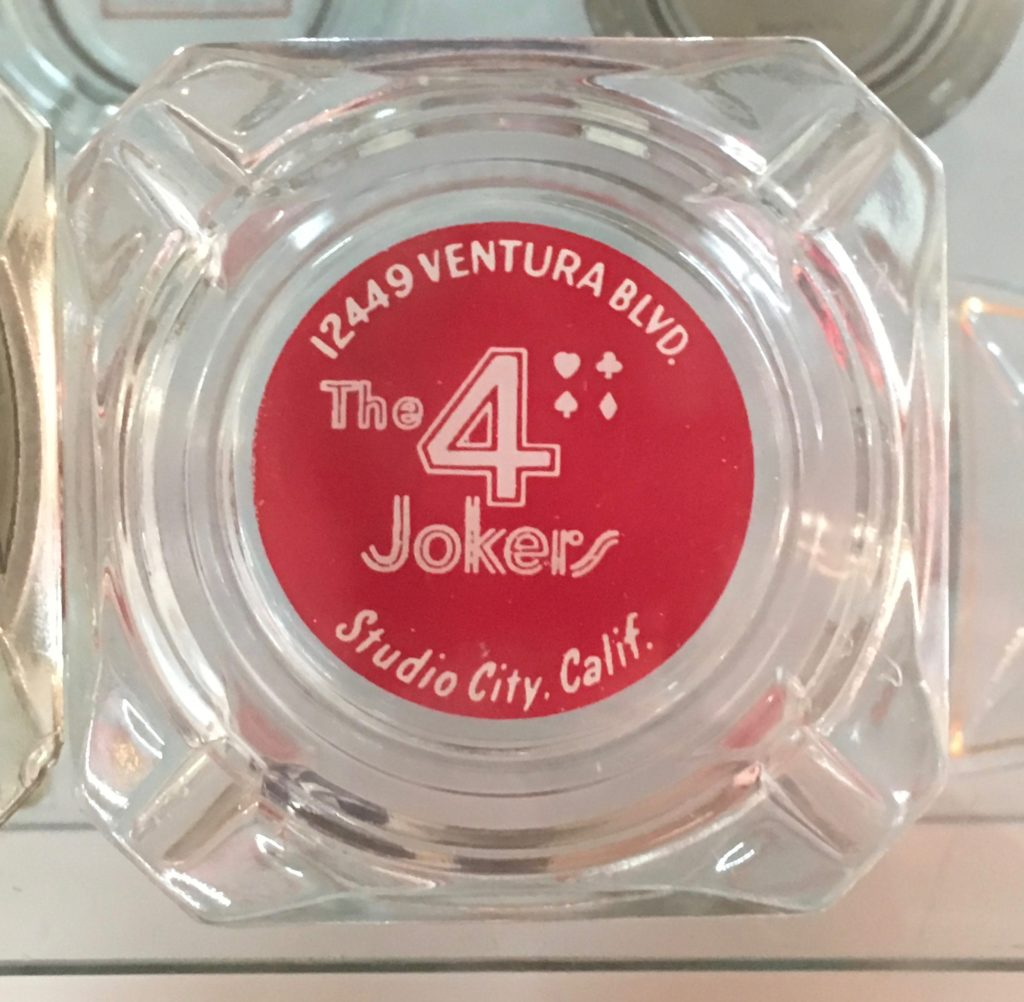 Souvenir ashtray from the 4 Jokers Club, Valley Relics Museum Collection